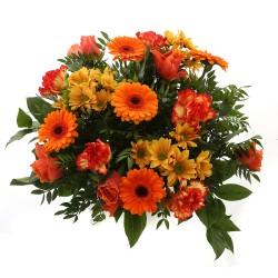DeBlock Springtime Oranje boeket - 38 cm