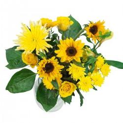 DeBlock Sunny boeket geel - 60 cm