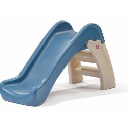 glijbaan Play and Fold 110 cm bruin/blauw