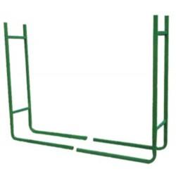 haardhouthouder 120 x 20 cm staal groen