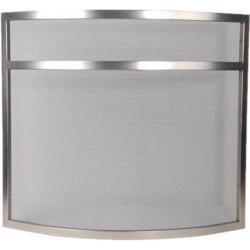 haardscherm 72,5 x 63,5 cm rvs zilver