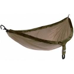 hangmat Doublenest 2,8 x 1,4 m nylon khaki/groen 3-delig