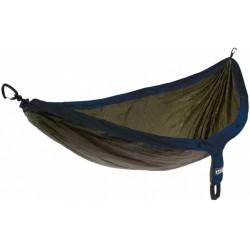 hangmat Doublenest 2,8 x 1,4 m nylon navy/groen 3-delig