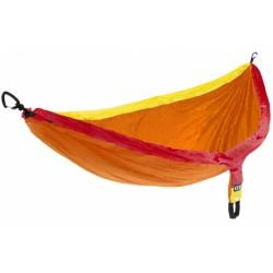 hangmat Doublenest 2,8 x 1,4 m nylon oranje/geel 3-delig