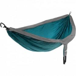hangmat Doublenest 2,8 x 1,9 m nylon blauw/grijs 4-delig