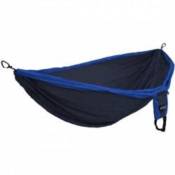 hangmat Doublenest Deluxe 2,8 x 2,5 m nylon blauw 4-delig