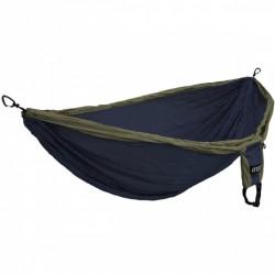hangmat Doublenest Deluxe 2,8 x 2,5 m nylon navy/groen 4-delig