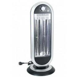 heater 30 x 30 x 70 cm aluminium zwart /zilvergrijs