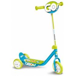 Skids Control kinderstep Gooo! Jongens Vrijloop Lichtblauw/Lichtgroen