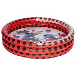 kinderzwembad 100 x 23 cm rood/zwart