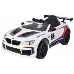 BMW M6 GT3 accuvoertuig met afstandsbediening 12V wit