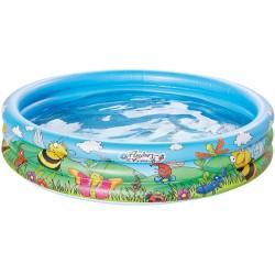 opblaaszwembad 100 x 23 cm blauw