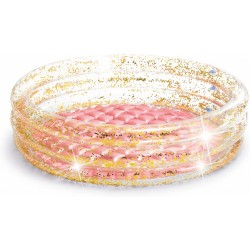 opblaaszwembad 57103NP Glitter 86 x 25 cm goud/roze