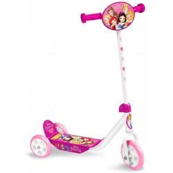 Princess 3-wiel kinderstep Meisjes Vrijloop Wit/Roze