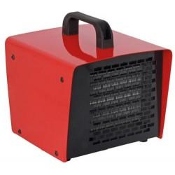ptc-kachel 1000-2000 W staal rood