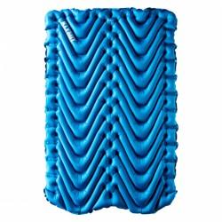 slaapmat Double V tweepersoons 188 cm blauw