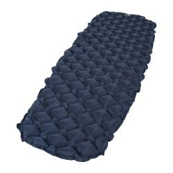 slaapmat Furry opblaasbaar 187 x 55 cm Nylon donkerblauw