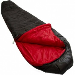 slaapzak Pulsar 1 L 230 x 80 cm nylon zwart/rood