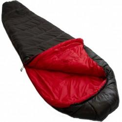 slaapzak Pulsar 1 R 230 x 80 cm nylon zwart/rood