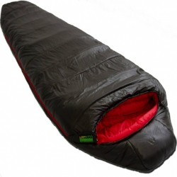 slaapzak Pulsar 3 R 230 x 80 cm nylon zwart/rood