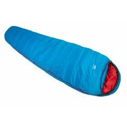 slaapzak Rimo II 850 190 cm polyester blauw/rood
