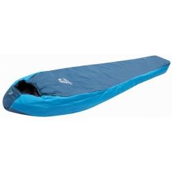 slaapzak Trek 200 rechts -11°C 230 cm polyester blauw