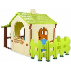 Injusa speelhuis Country House crème/groen 198 cm