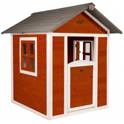 AXI speelhuis Lodge Sunny 135 x 111 x 133 cm 100% FSC hout rood