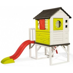 Smoby speelhuis op palen junior 260 x 160 cm wit/groen/rood
