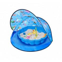 speeltent met zandbak junior 120 x 80 cm blauw
