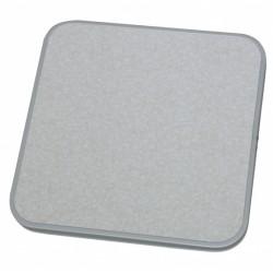 Eurotrail tafelblad voor campingkrukje 40 x 40 cm MDF grijs