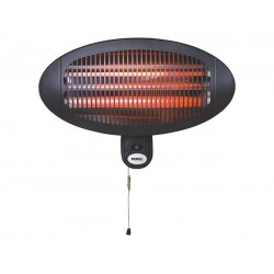 terrasverwarmer 2000W 50 x 36,5 cm IP34 staal zwart