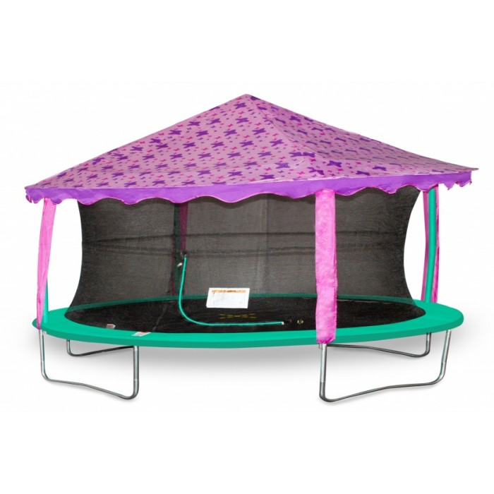 trampoline Canopy-tent ovaal 2,13 x 3,05 meter paars