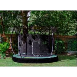 Jumpking trampoline InGround Deluxe 427 cm zwart/groen