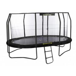Jumpking trampoline met net JumpPod Oval 396 x 274 cm zwart (2016)
