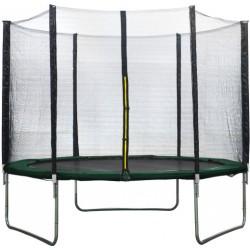 AMIGO trampoline met veiligheidsnet 244 cm donkergroen