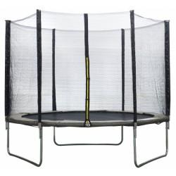 AMIGO trampoline met veiligheidsnet 244 cm grijs