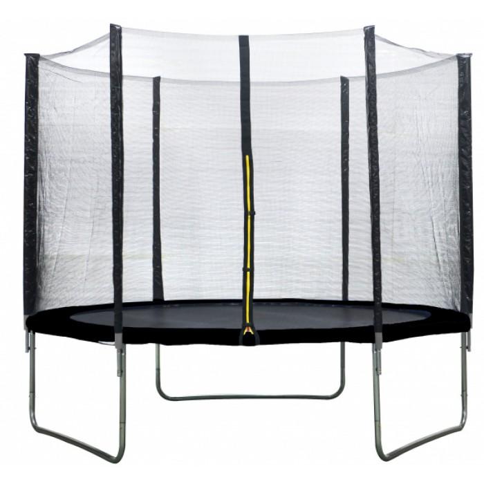 AMIGO trampoline met veiligheidsnet 244 cm zwart