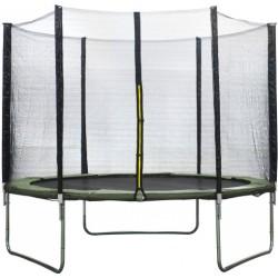 AMIGO trampoline met veiligheidsnet 305 cm donkergroen