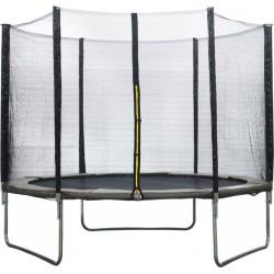 AMIGO trampoline met veiligheidsnet 305 cm grijs