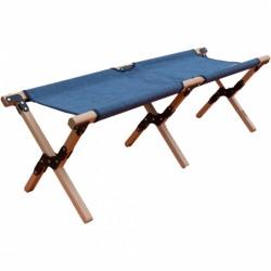 Nigor veldbank Buzzard 120 cm hout/polyester blauw 2-delig
