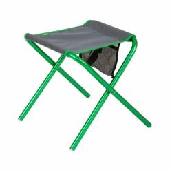 Highlander vouwstoel 36 x 35 cm aluminium/polyester groen/grijs