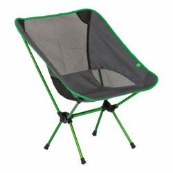 Highlander vouwstoel 66 x 54 cm aluminium/polyester groen/grijs