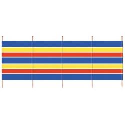 windscherm 120 x 287 cm hout/polyester blauw/geel/rood