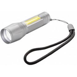 XD Collection zaklamp Focus led batterij 65 lm 9,4 cm alu grijs