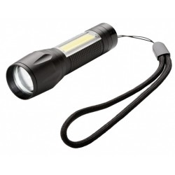 XD Collection zaklamp Focus led batterij 65 lumen 9,4 cm zwart