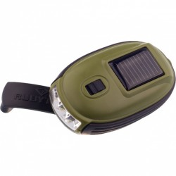 Rubytec zaklamp Kao XL led solar 8,7 x 5 cm ABS olijfgroen