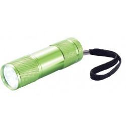 XD Collection zaklamp Quattro led batterijen 9 cm groen