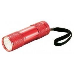 XD Collection zaklamp Quattro led batterijen 9 cm rood