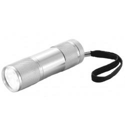 XD Collection zaklamp Quattro led batterijen 9 cm zilver